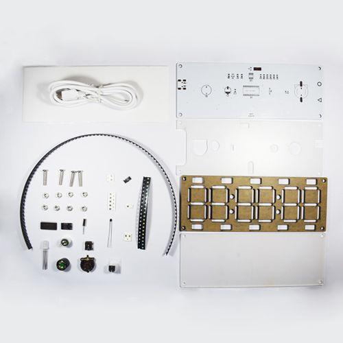New Arrival DIY 6 Digit LED Two-Color Digital Tube Desktop Clock Kit Touch Control Large Screen