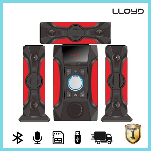 816 3.1Blutooth Speaker Home Threater Sound System- Red