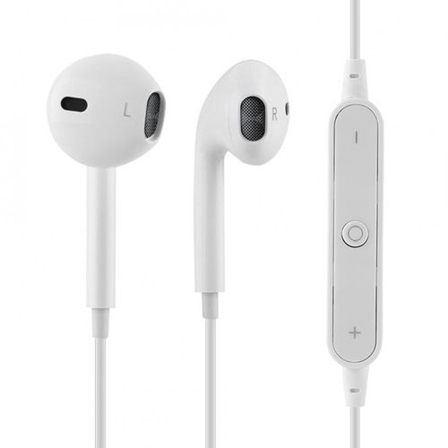 Bluetooth Wireless In-Ear Earbuds Headphones Heavy Bass Noise Isolating HiFi Earphones (White)