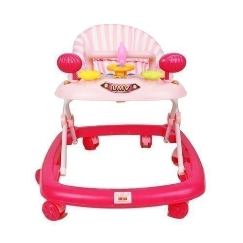 Baby Walker With MUSICAL TOY- Pink