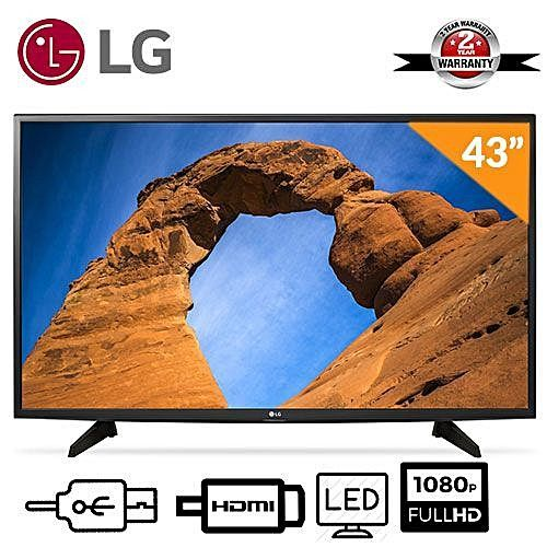 43 Inch LED Television- Black + Wall Bracket + Tv Guard