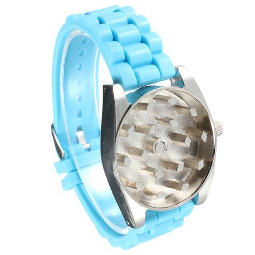 Watch Shape Teeth Herb Grinder Rotating Wheel Tobacco Cigarette Crusher (blue)