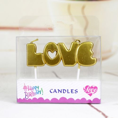 LOVE Letter Cake Decoration Candles For Party Wedding Festival Baking Gadget Edding Festival And Other Gathering