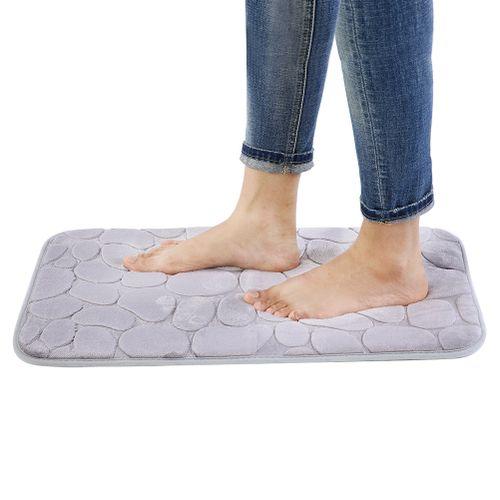59.5 * 40cm Simple Style Soft Kitchen Rug Bathroom Pad Water Absorbent Doormat Non-slip Floor Mat