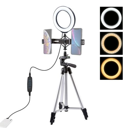 6.2 Inch LED Ring Vlogging Video Light Kits With Tripod