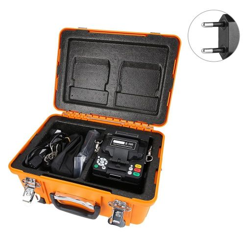 4.3 Inch LCD Automatic Fiber Optic Fusion Splicer, X-500 Automatic Fiber Fusing Splicer Optical Welding Splicing Machine With Optical Fiber Cleaver For FTTH/FTTx