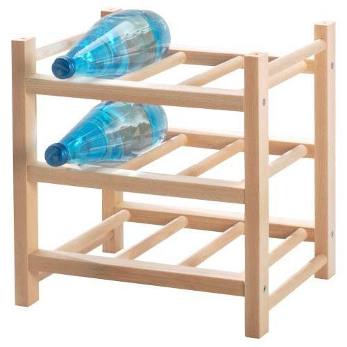 HUTTEN 9-bottle Wine/ Bottle Rack, Solid Wood
