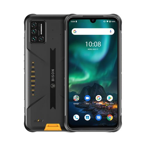 BISON Rugged Phone 6GB+128GB 5000mAh Battery 6.3 Inch Android 10.0 4G Support Google Play Smartphone - Yellow
