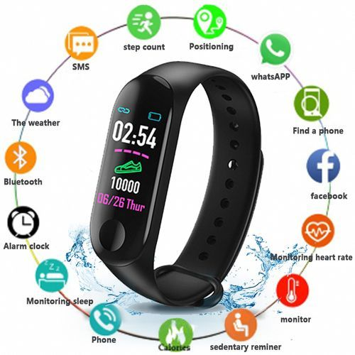 Men's Bluetooth Smart Watch Heart Rate Monitor Fitness Tracker Waterproof Sport Smartwatch