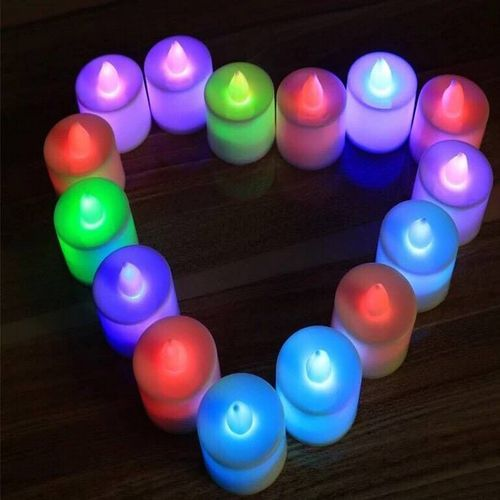 Flameless Led Candle, Valentine Party Candle Light X 5
