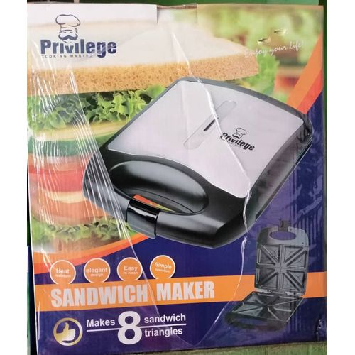 4 Slice Sandwich Maker/ Toaster- Black