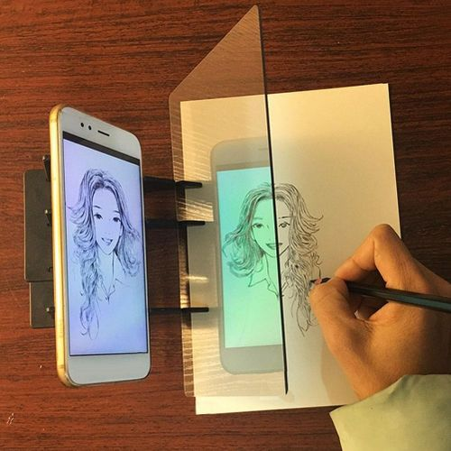 Drawing Projector, PC Material Lens Optical Tracing Board For Mobile Phone And Tablet DIY Painting