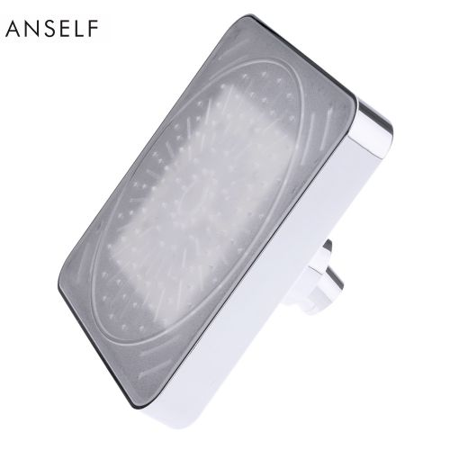 """Anself 6"""" Automatic LED Light Shower Head Bath Sprinkler For Bathroom Temperature Control 3 Colors Changing"""