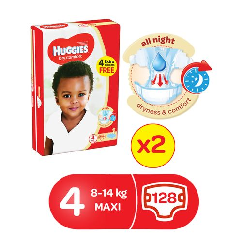 Dry Comfort Diapers Size 4(2x60).