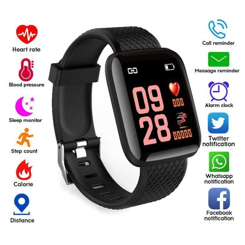 Fitness Tracker Heart Rate Monitor BP Exercise Band Smart Wristband