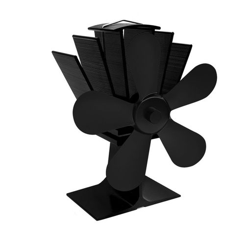 2504 Blades Heat Powered Stove Fan Silent Fireplace