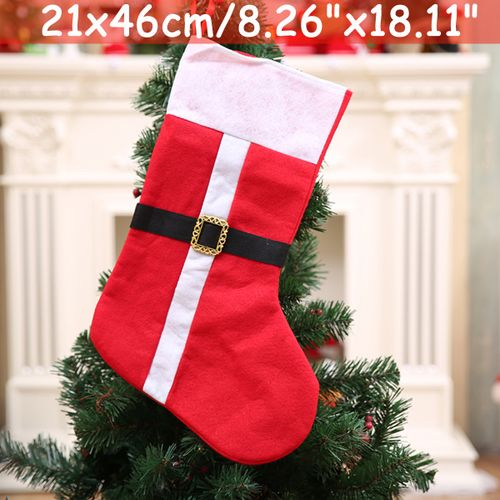 Personalised Deluxe Christmas Stocking Santa Claus Gift Bag Tree Ornaments