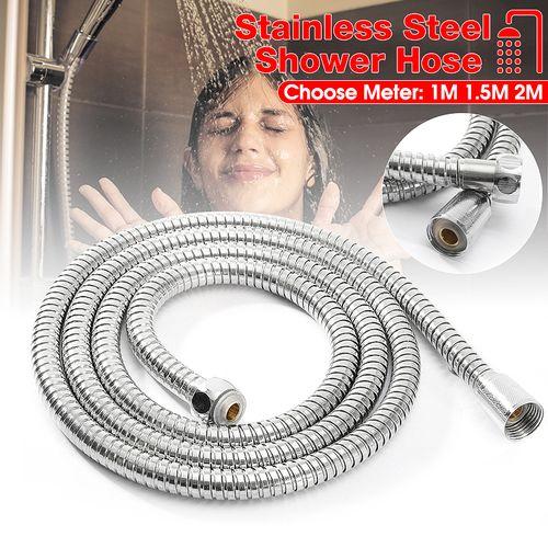 2m Flexible Stainless Steel Chrome Bathroom Shower Pipe