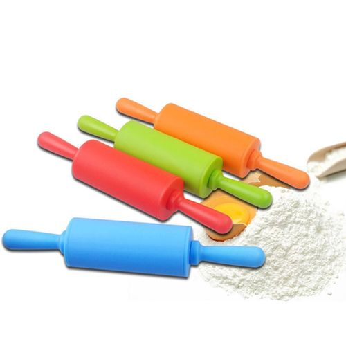 1Pc/Set Silicone Dough Rolling Pin Roller Small Size Baking Tools Blue