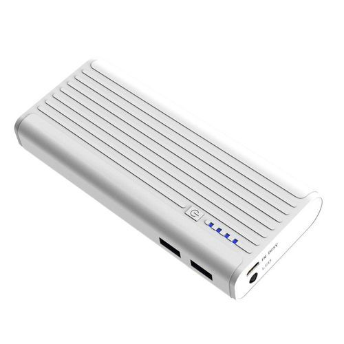 12,000mAh Portable Power Bank With Dual Port - H15 - White