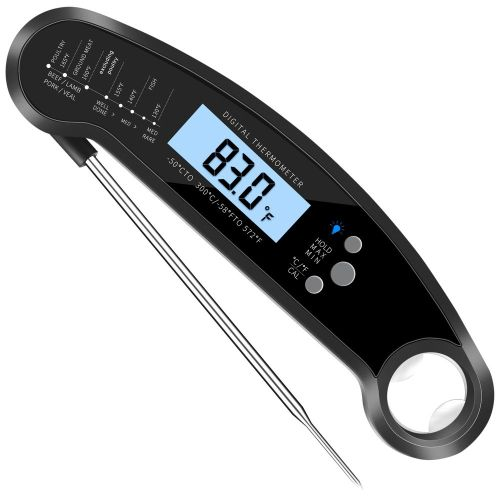 Professional Waterproof Digital Food Thermometer Pyrometer For Kitchen Cooking Black