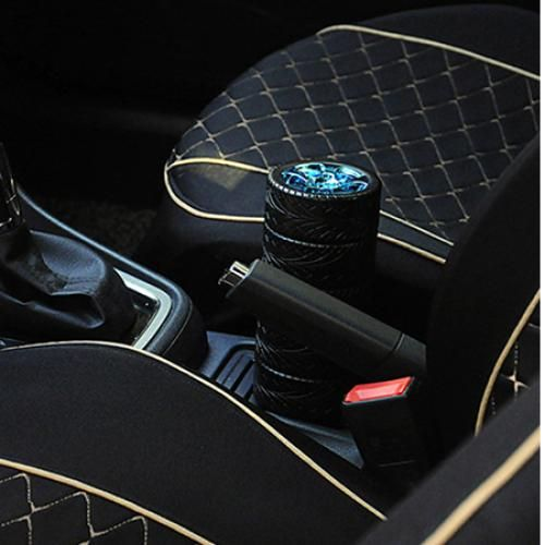 320ml Portable Stainless Steel Liner Creative Car Tire Cup Travel Mug - Deep Blue
