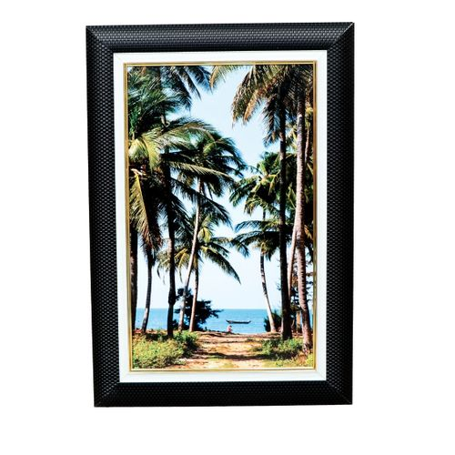 Black Wall Frame With Beach Side Picture
