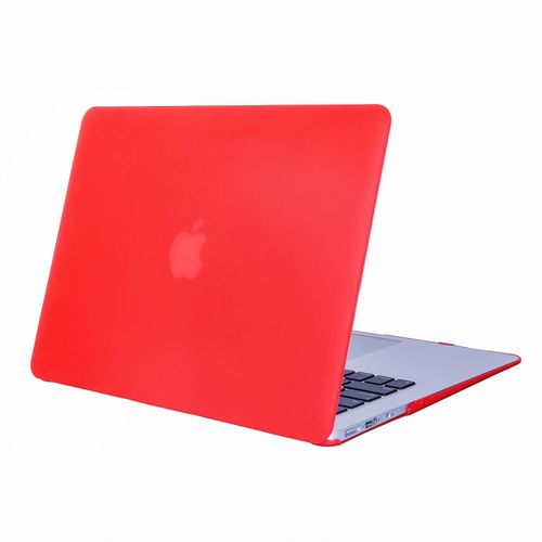 """PC Material Rugged Matte Texture Armor Protective Case Apple MacBook Air 11.6"""" Case / Plastic Hard Case Cover For MacBook Air 11.6 Inch -Red"""