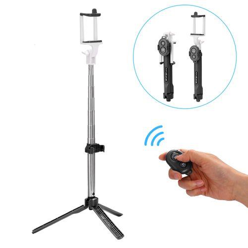 Handheld Cellphone Tripod Extendable Selfie Wireless BT