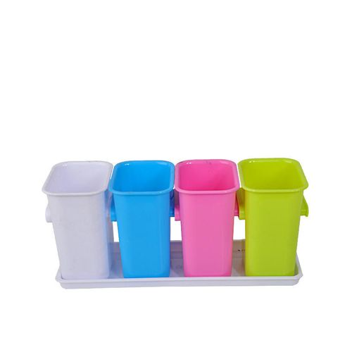 Cutlery Drainer And Holder - Multicolor