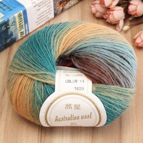50g Soft Chunky Knitting Crochet Yarn 100% Fine Wool Ball Colorful Craft Yarn-14