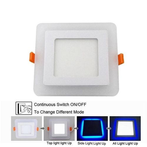 AC85-265V 6W Square LED Panel Downlight 6W 3 Model LED Ceiling Lamp Aluminum Acrylic Painel Light