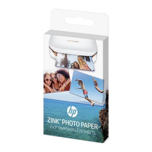 """Sprocket ZINK® Sticky-backed 2"""" X3"""" Photo Paper (20 Sheet Pack) - W4Z13A - Buy 4 And Get 1 FREE"""