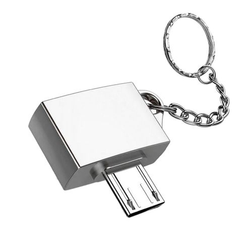 1Pc Ultra Potable Metal USB 2.0 Micro OTG Adapter For Android Device
