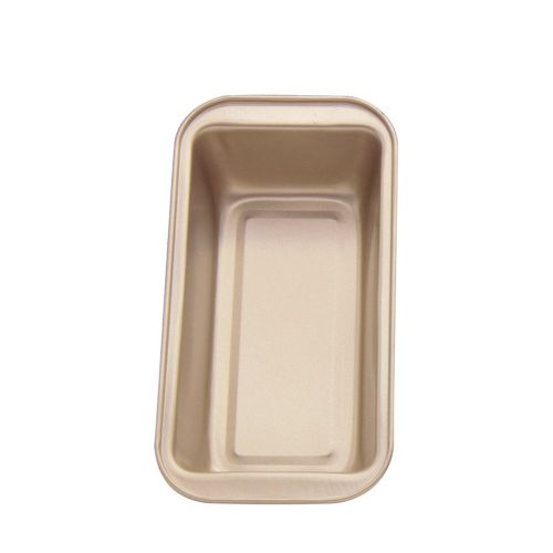 Home Rectangle Bottom Honeycomb Bakeware Non-stick Cake Mold Tray Gold