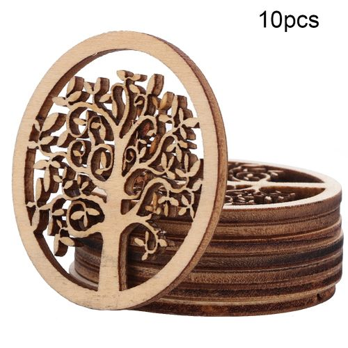 10 Pieces Wooden Tree Model Of Natural Color Hand-made Wood For Home Wall Decoration DIY Crafts