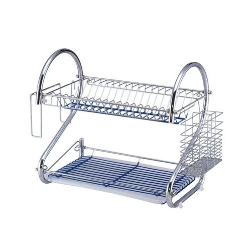Chrome Plated 2 Layers Dish Drainer