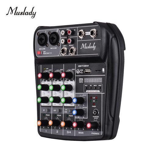 Muslady AI-4 Compact Sound Card Mixing Console Digital
