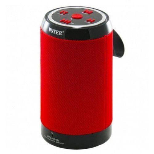 WS-1812 Wireless Portable Bluetooth Speaker (Red)