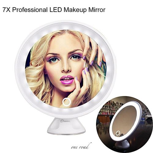 7X Maginifcation Led Makeup Mirror 360-Degree Free Rotation Vanity Usb Charge Cosmetic Mirror