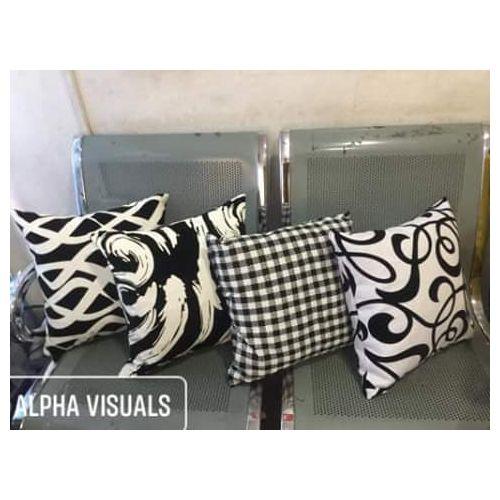 Black & White Throw Pillow Set- 4pillows