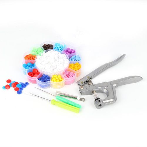 200 Pcs Snaps And Snap Pliers Set, Colorful Children's Plastic Buttons With Snaps Pliers And Organizer Storage Containers For Sewing And Crafting