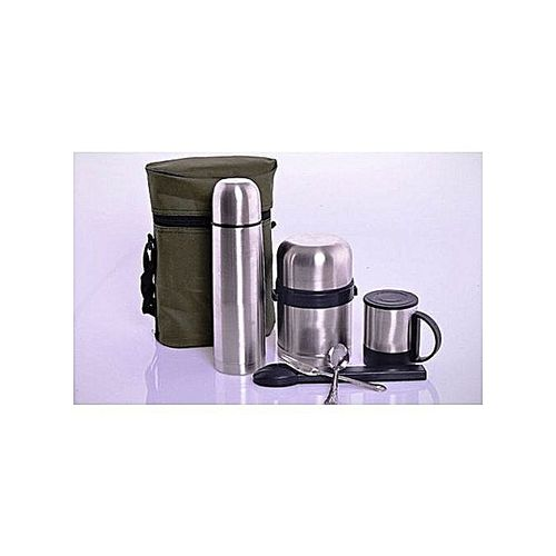 Stainless Steel Food Flask - Set Of 5