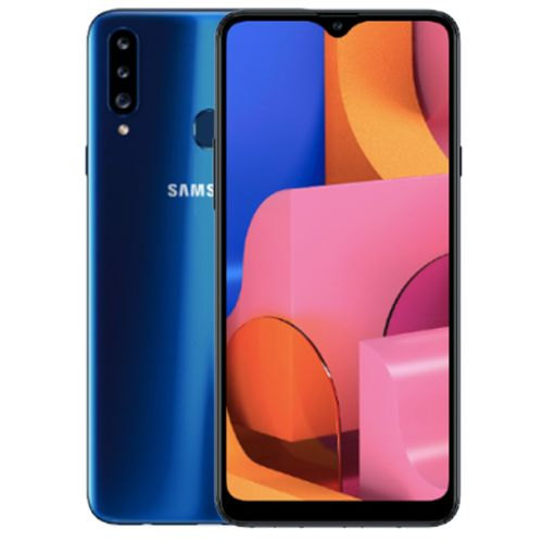 Galaxy A20s 6.5-Inch (3GB,32GB ROM) Android 9.0, (13MP+8MP+5MP)+ 8MP Dual SIM 4000mAh 4G LTE Smartphone - Blue (BF19)
