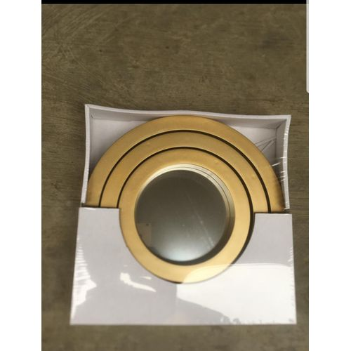 3Pieces Radia Decorative Wall Mirror Gold