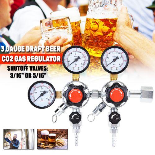 3 Gauge CO2 Gas Regulator For Draft Carbon Dioxide Beer Brewing Soda Adjustable