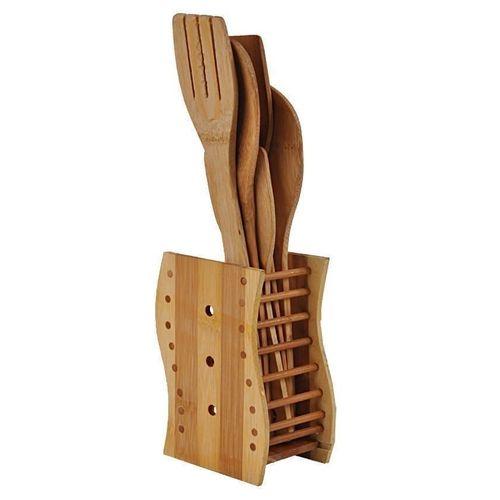 Universal Bamboo Kitchen Wooden Spoon(5 Piece)