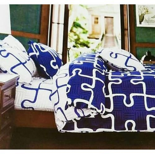 Quality Duvet Bedsheets With Pillow Cases -blue And White