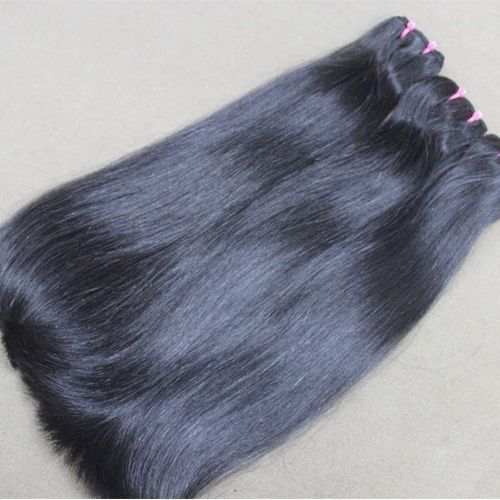 Double Drawn Indian Straight Human Hair (3 Bundles) 300 Grams. Full Hair