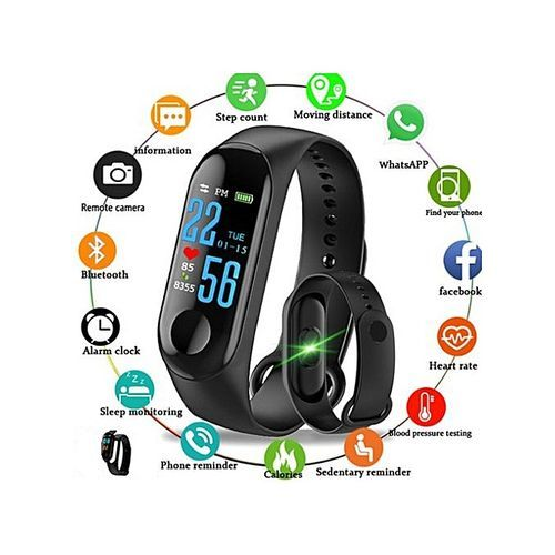 Fitness Tracker Activity Wristband Smart Band Android & IOS